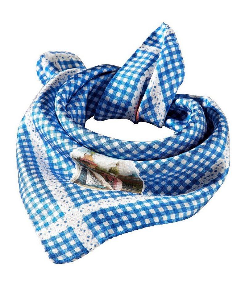 Reitmayer Seiden-Nickituch in Blau/Weiß