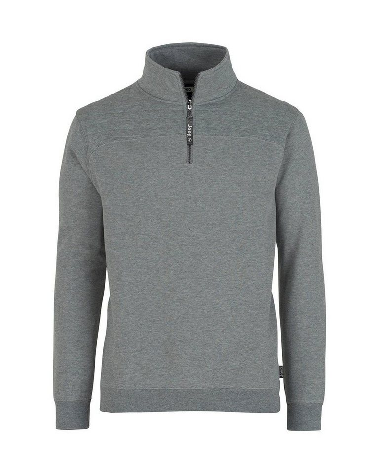 Jeep Troyer Quilted Half Zip in grau