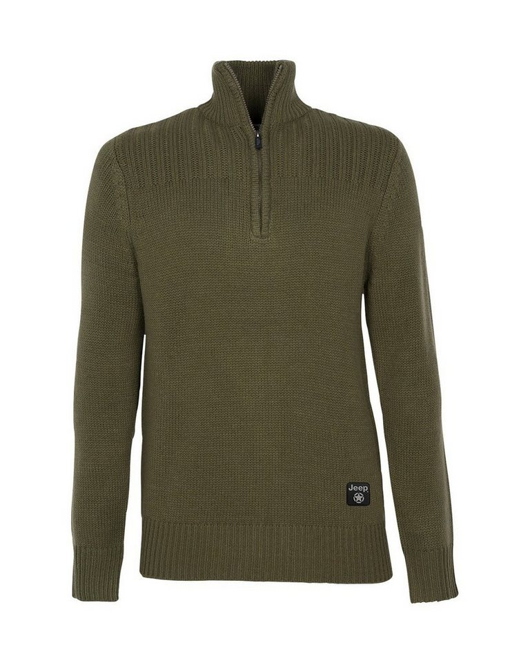 Jeep Troyer Tricot Sweater in oliv