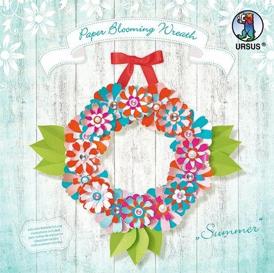 "URSUS Papier Basteln Set Papierkranz Paper Blooming Wreath ""Summer"""