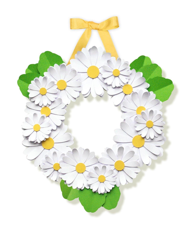 """URSUS Papier Basteln Set Papierkranz Paper Blooming Wreath """"Daisies"""""""
