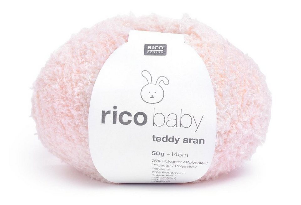 Wolle rico baby teddy aran in Puder