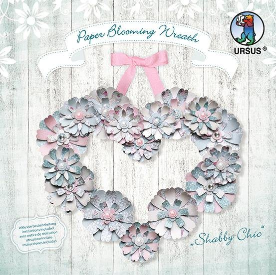 "Ursus Paper Blooming Wreath ""Shabby Chic"""