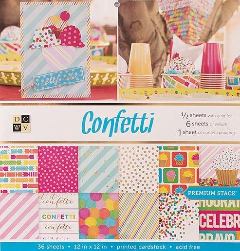 "die cuts with view Scrapbook Block ""Confetti"""
