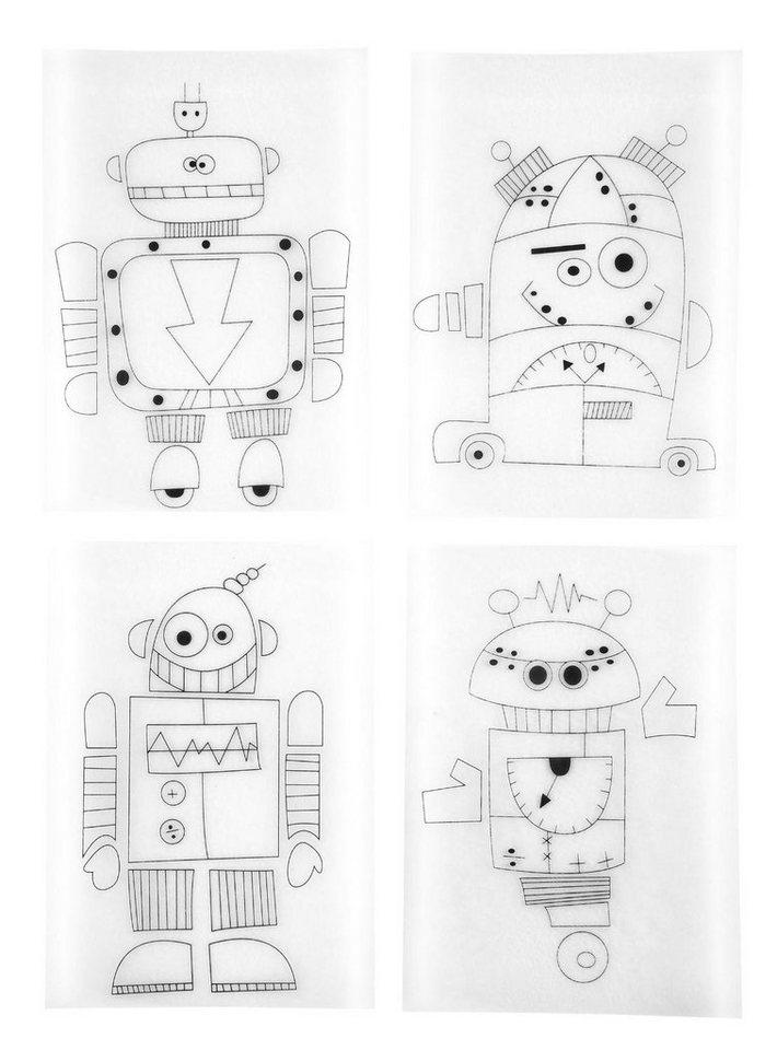 """Schrumpffolien-Set """"Robot"""""""