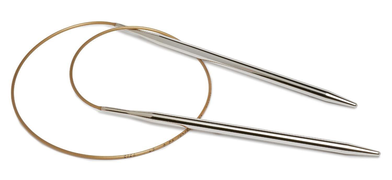 addi Rundstricknadel, Metall, 60 cm, Stärke 5,0