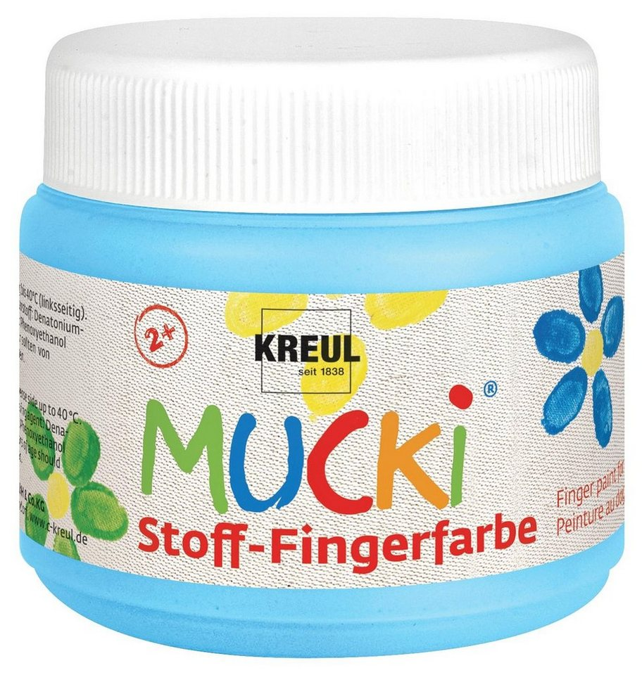 Kreul MUCKI Stoff-Fingerfarbe, 150 ml in Hellblau