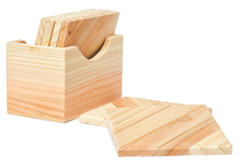 VBS Holzbox mit 6 Untersetzern