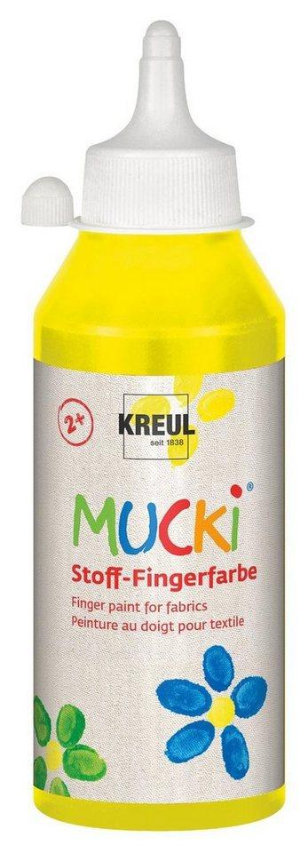 Kreul MUCKI Stoff-Fingerfarbe Fingermalfarbe Stoffarbe in Gelb