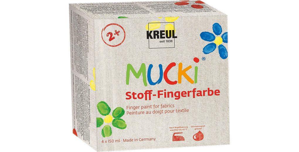 Kreul MUCKI Stoff-Fingerfarbe, 4er-Set