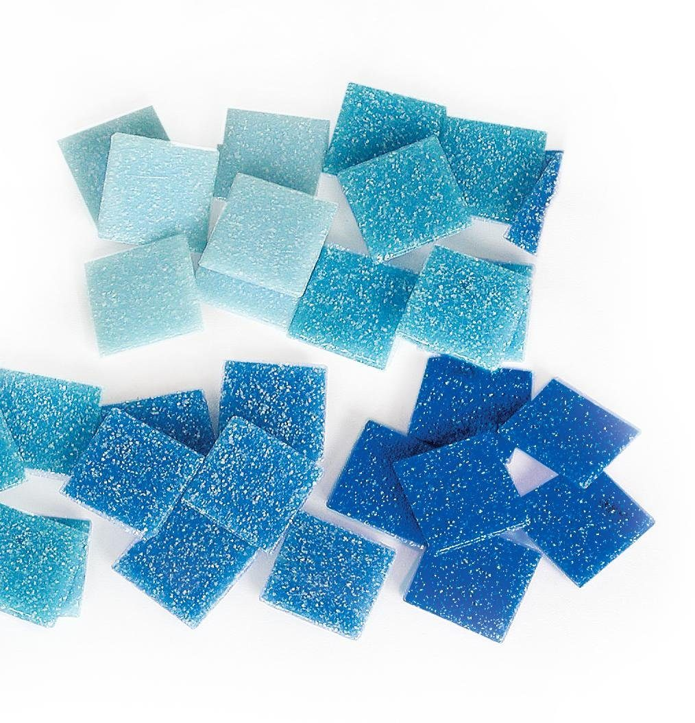 VBS Mosaiksteine Set Blau, 20 x 20 mm