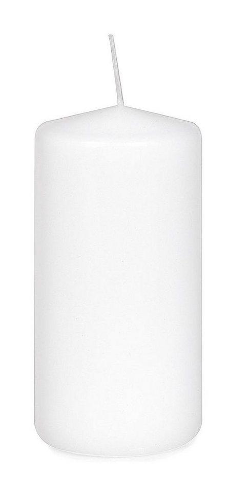 Stumpenkerze Flachkopf 120/60mm in Weiß