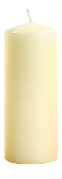 Stumpenkerze Flachkopf 150/60mm in Creme