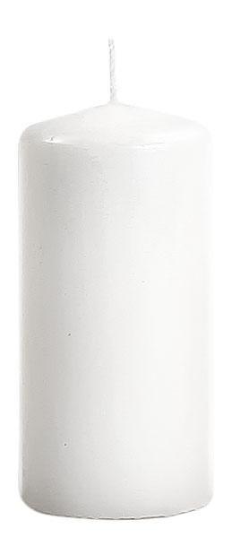 Stumpenkerze Flachkopf 200/70mm in Weiß