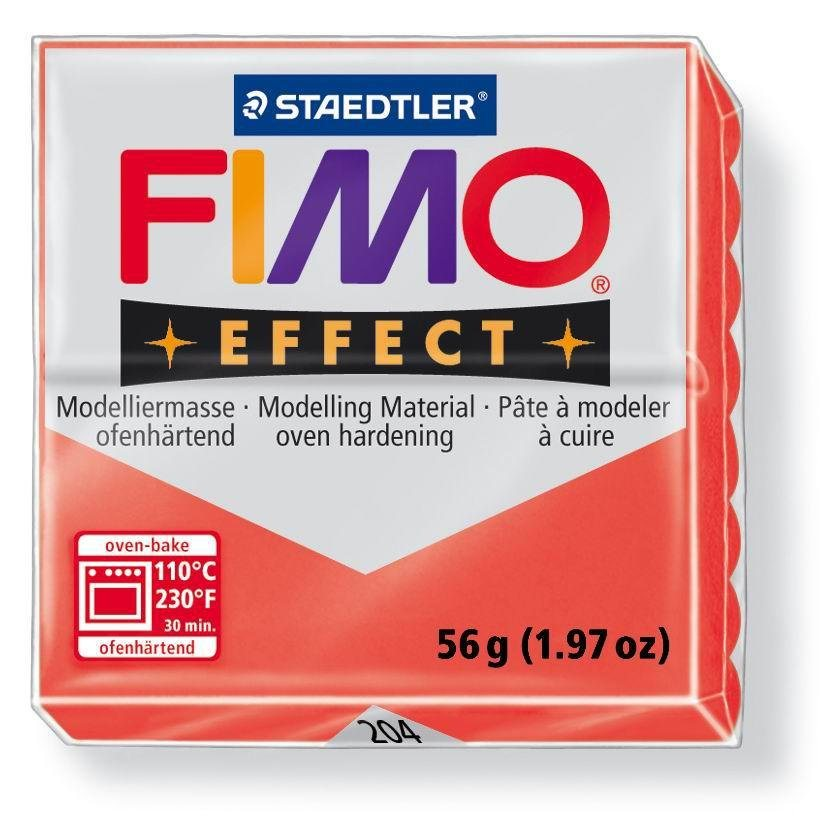 FIMO effect Transluzent in Rot