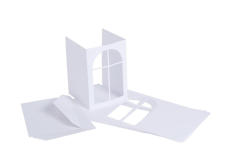 "VBS Passepartoutkarten ""Fenster"", 20-tlg."