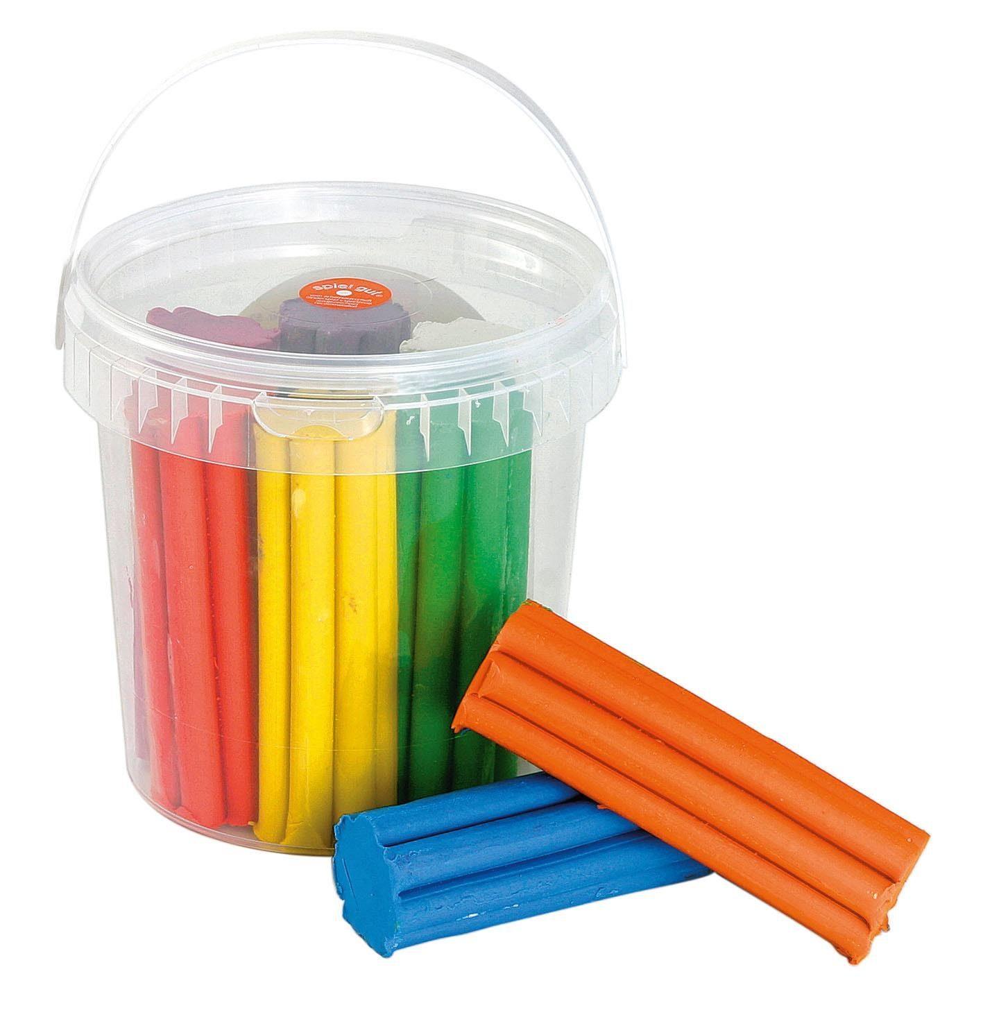 Knet-Eimerchen, 8 Farben