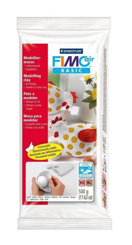 Fimo Modelliermasse air Basic, ca. 500 g in Weiß