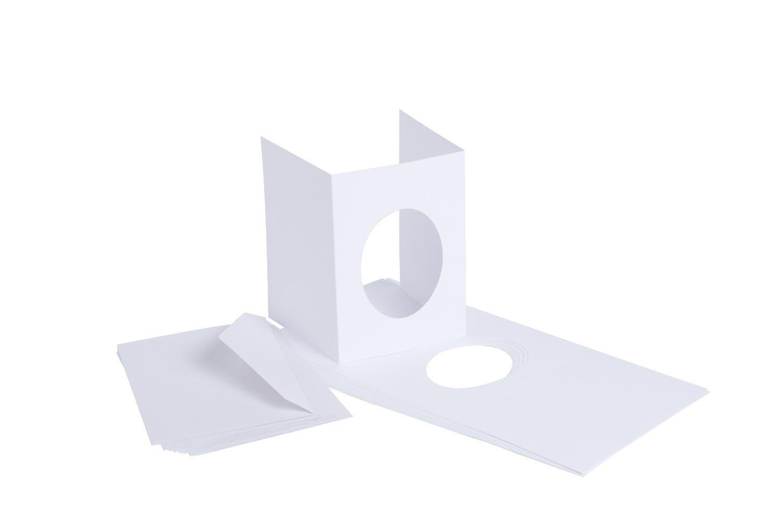 """VBS Passepartoutkarten """"Oval"""", 20-tlg."""