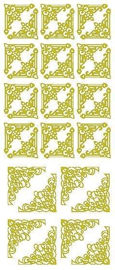"""Reliefsticker """"Ecken"""" in gold"""