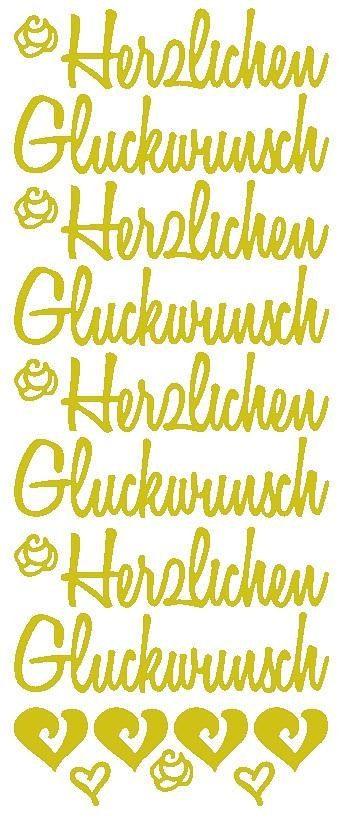 """Reliefsticker """"Herzlichen Glückwunsch XL"""""""