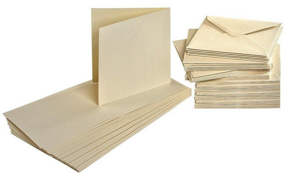 Doppelkarten mit Umschlägen, 100 tlg.