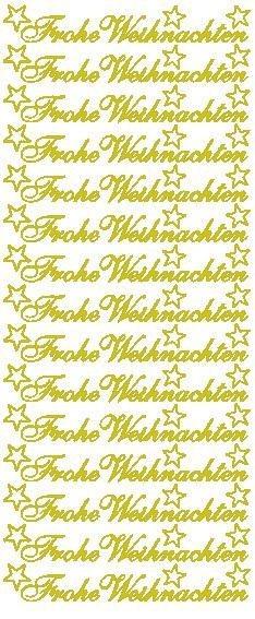 """Reliefsticker """"Frohe Weihnachten"""" in gold"""