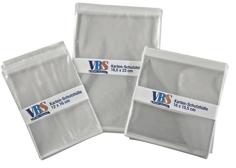 VBS 50 Schutzhüllen für Karten, C5, 16,5 x 23 cm