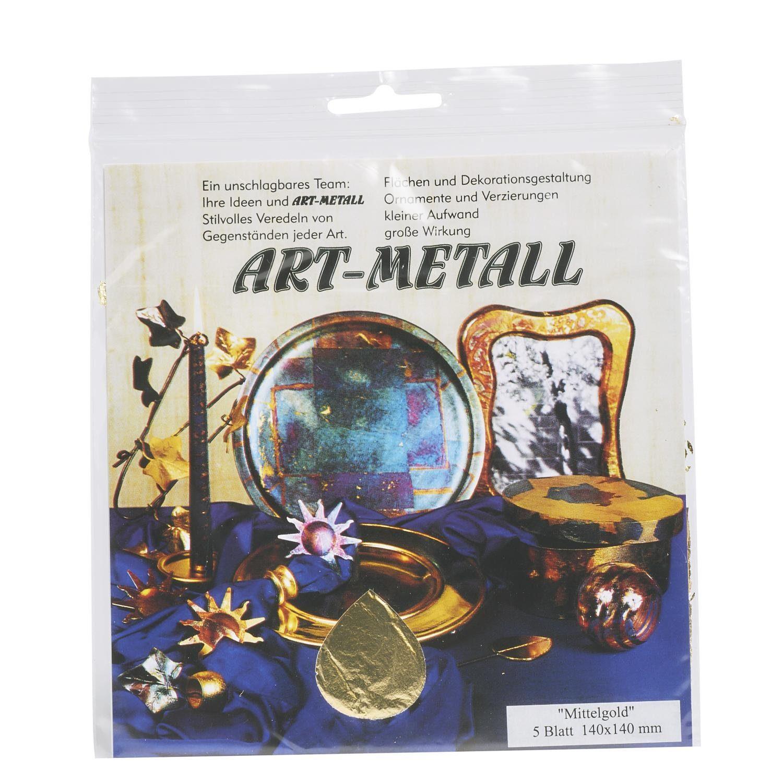 Blattmetall Goldfarben, 5 Blatt