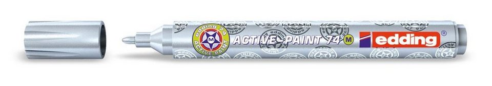 edding Active Paint, 74 M, 1-2 mm in silber