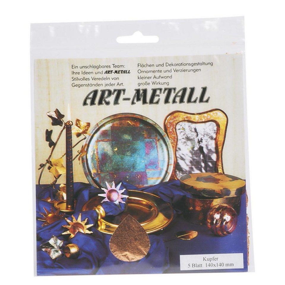 Blattmetall Kupferfarben, 5 Blatt