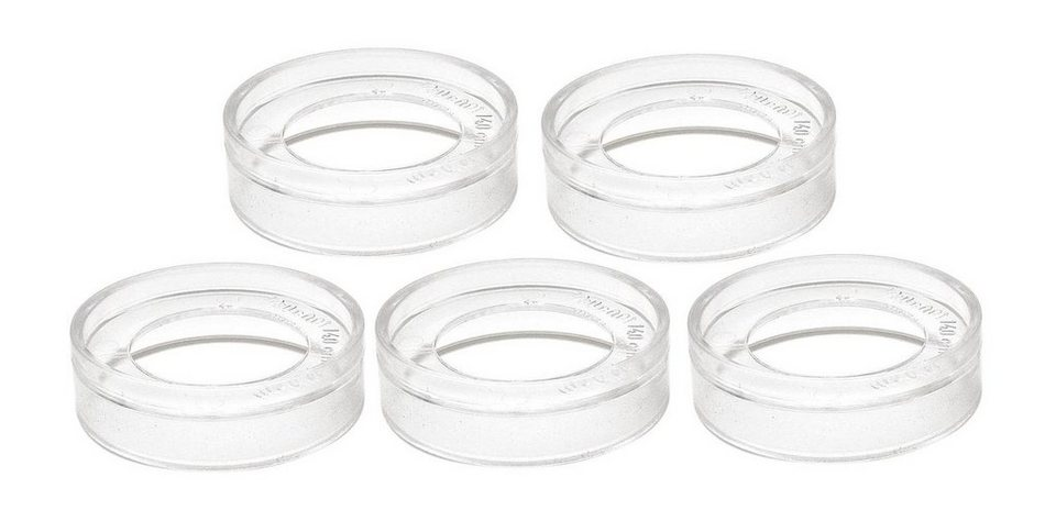Sockel für Acryl-Formen, 5 Stück