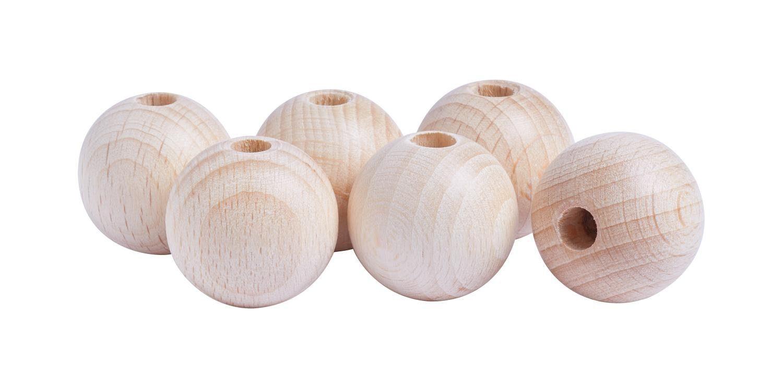 Holzkugeln, Ø 25mm, durchgebohrt