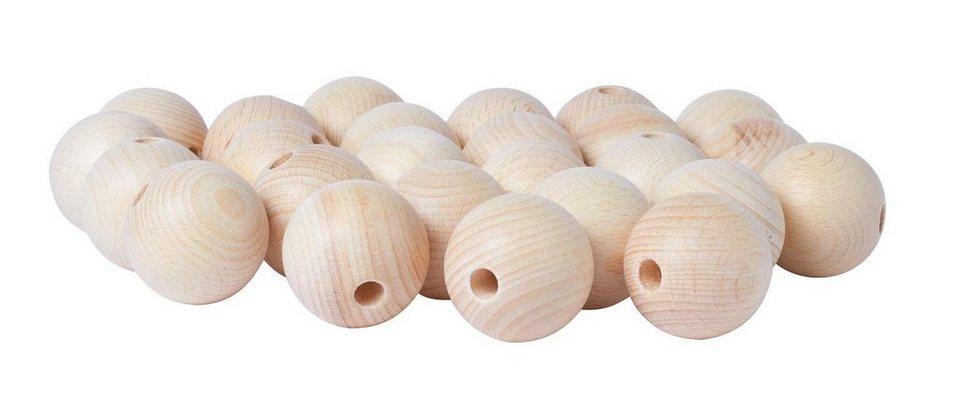 Holzkugeln, Ø 40 mm, durchgebohrt