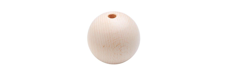 Holzkugel, 70 mm, durchgebohrt