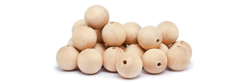 Holzkugeln, Ø 50 mm, durchgebohrt