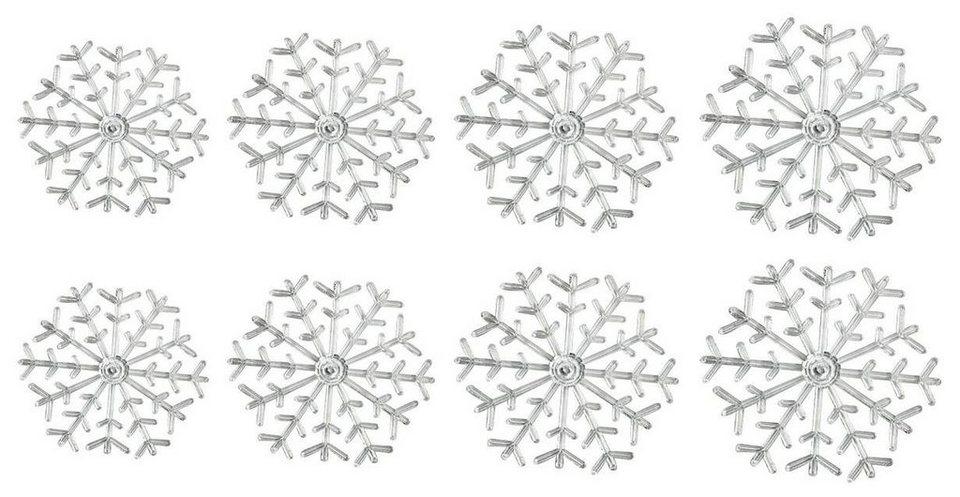 Acryl-Schneeflocken, 8er-Set