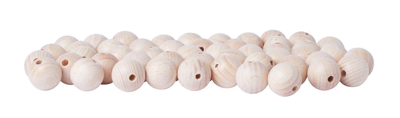 Holzkugeln, Ø 20 mm, durchgebohrt