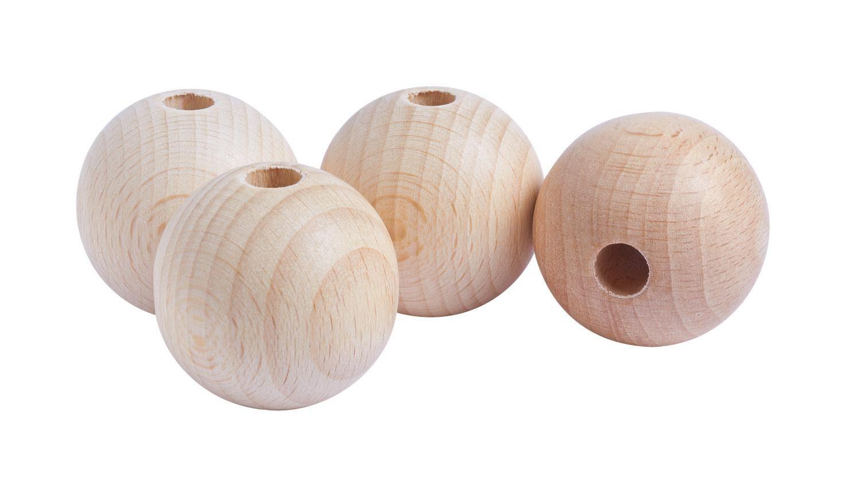 Holzkugeln, Ø 35mm, durchgebohrt