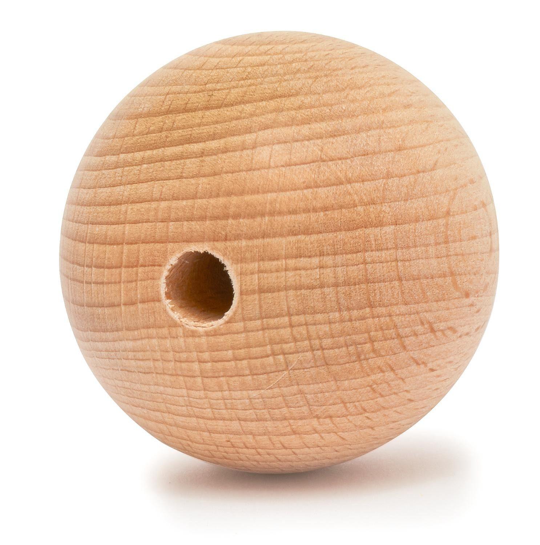 Holzkugel, Ø 50 mm, durchgebohrt