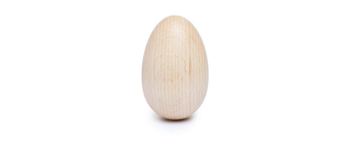 Holz-Ei, oben gebohrt, 40 x 60 mm