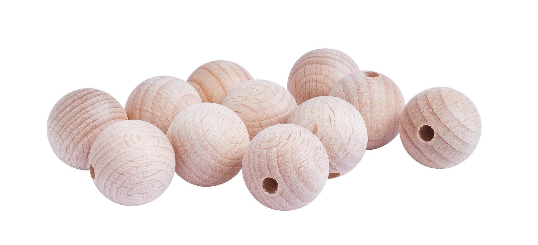 Holzkugeln, Ø 20 mm, halbgebohrt