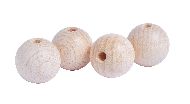 Holzkugeln, Ø 30mm, durchgebohrt