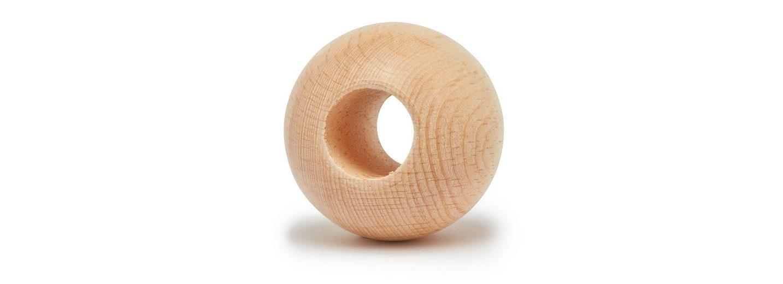 Holz-Kugel, Ø 50 mm, durchgebohrt