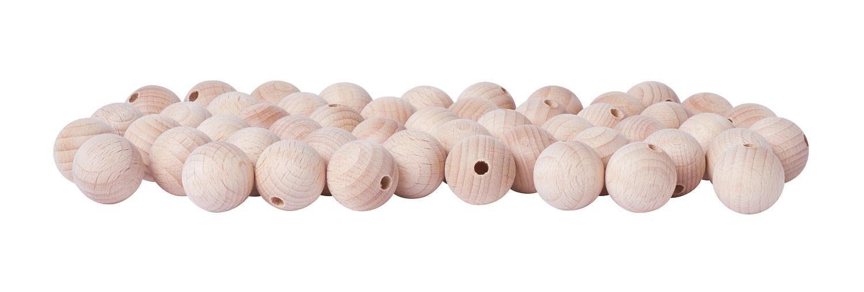 Holzkugeln, Ø 20mm, halbgebohrt