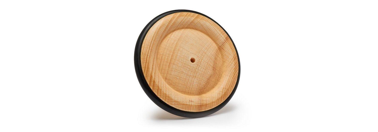Holzrad mit Gummireifen, Ø ca. 85 mm