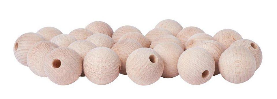 Holzkugeln, Ø 35mm, halbgebohrt