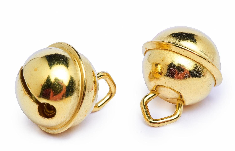 Schellen, 15 mm, goldfarben, 10 Stück