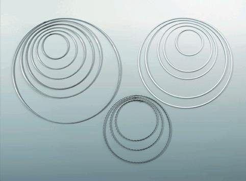Metallring weiß, Ø 25 cm