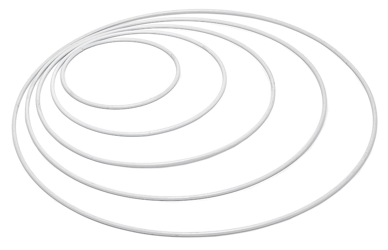 Metallring weiß, Ø 15 cm